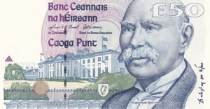 £50 Pounds Irish IEP Banknote