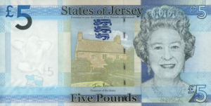 £5 Jersey Pound JEP Banknote