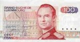 One of the Luxembourg Franc Banknotes