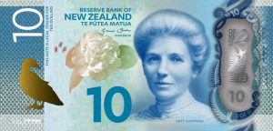 New Zealand $10 Dollar Note NZD