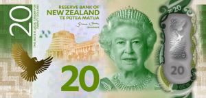 New Zealand $20 Dollar Note NZD
