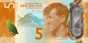 New Zealand $5 Dollar Note