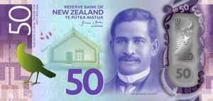New Zealand $5 Dollar Note NZD