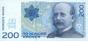 200 Norwegian Kroner NOK Banknote