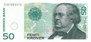50 Norwegian Kroner NOK Banknote