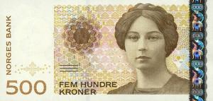 500 Norwegian Kroner NOK Banknote