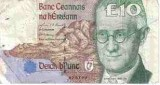 The old Irish ten pound note