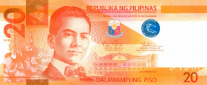 20 PHP Peso Banknote