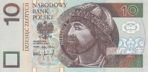 10 PLN Zlotych Banknote