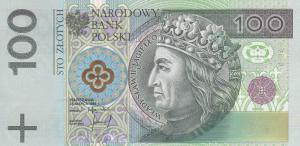 100 PLN Zlotych Banknote