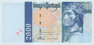 2000 PTE Banknote