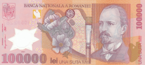 100000 RON Banknote