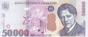 50000 RON Bnaknote