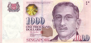 1000 S$ Dollar SNG Banknote