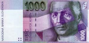 1000 SKK Banknote