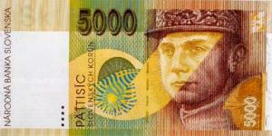 5000 SKK Banknote