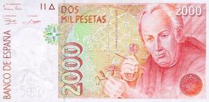 2000 ESP Banknote