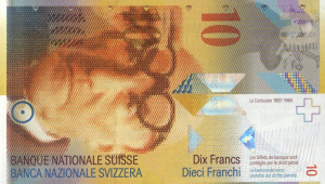 10 CHF Banknote