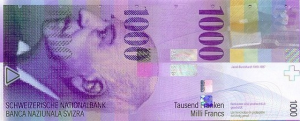 1000 CHF Banknote