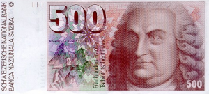 500 CHF Banknote