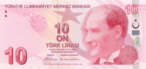 10 TRY-YTL Banknote