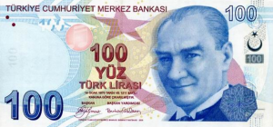 100 TRY-YTL Banknote