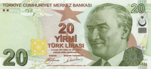 1 TRY-YTL Banknote