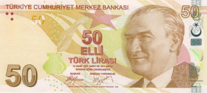 50 TRY-YTL Banknote