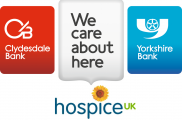 Clydesdale and Yorkshire Bank and Hospice UK Logo