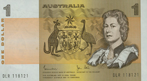 Withdrawn 1 AUD Dollar Note