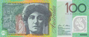 AUD $100 Dollar Banknote