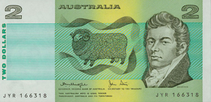 Withdrawn Australian 2 Dollar Note