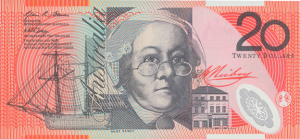 AUD $20 Dollar Banknote