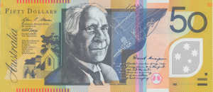 AUD $50 Dollar Banknote