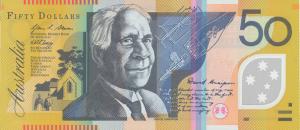 AUD $50 Dollar Banknote