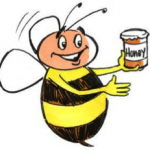 bees and honey cartoon